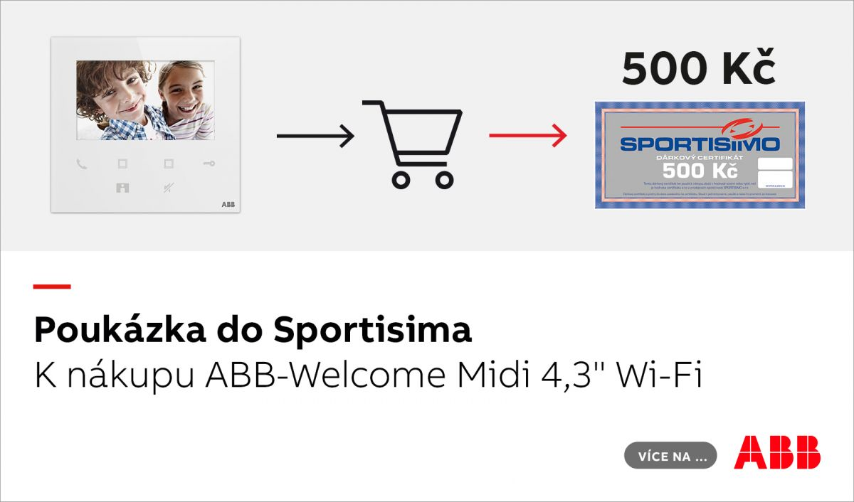 "Poukázka do Sportisima k nákupu ABB-Welcome Midi 4,3"" Wi-Fi"